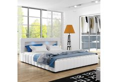 New Bed Frame with overhead LED lights — European Furniture, Modern Furniture, Bedroom Bed, Bedroom Furniture, Mattress Frame, Classic Sofa, New Beds, Lucca, Modern Bedroom