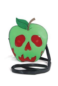 Sleepyville Critters - Poisoned Apple Crossbody Bag in Vinyl Material Snow White Poison Apple, Disney Purse, Poison Apples, Doja Cat, Green Bag, Red Green, Cute Bags, Vinyl, Purses And Bags