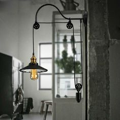 vintage industrial wall lights pulley wall lamp for reading signal holder E 27 Edison bulb for bar cafe bedroom
