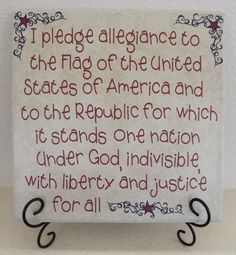 Pledge of Allegiance Tile-4th of July decor