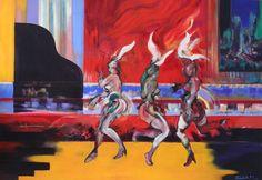 Uptown Cabaret Club - Técnica mixta s/papel 65 x 95