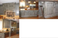 Appaloosa finish, Schuler cabinets, mixed style doors