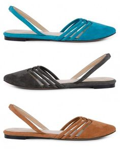 Cute flats in Blue, Black, and Brown