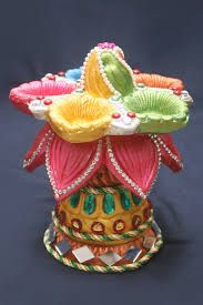 Multicolor Radha Krishna Under Jhula Wall Hanging - Karigaari: Means making something creative out of nothing. Diy Diwali Gifts, Corporate Diwali Gifts, Lotus, Diwali Diya, Indian Crafts, Peacock Design, Diwali Decorations, Craft Items, Hobbies And Crafts