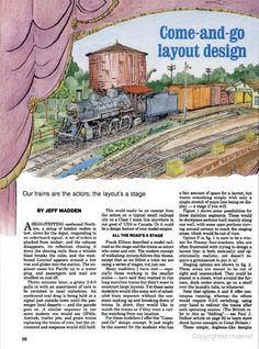 Modell RailRoader Ho Scale Train Layout, Ho Scale Trains, Model Train Layouts, Model Training, Model Railway Track Plans, Come And Go, Train Set, Models, Layout Design