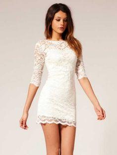Women's Lace Floral Print Bodycon Dress  | followpics.co