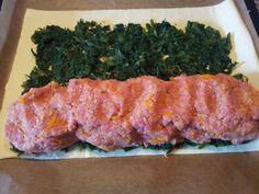 Hackfleisch-Couscous-Spinat-Rolle