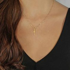 >> Click to Buy << TOMTOSH 2017 Summer Gold Chain Cross Necklace Small Gold Cross Religious Jewelry #Affiliate