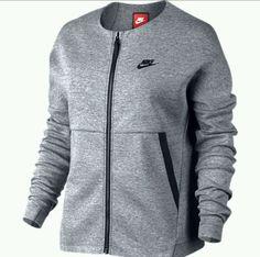 Nike Womens Sportswear Tech Fleece Jacket Carbon Heather Sz Medium 803585 063 M
