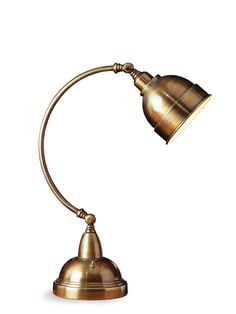 Elements Collection Plato 1-Light Lamp by AF Lighting at Gilt