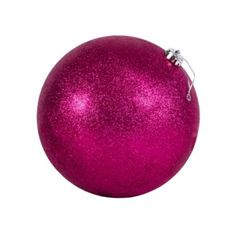 Pink Ball Christmas Ornament 6in - Party City