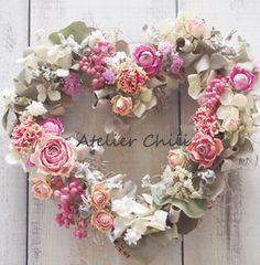 バレンタインにリースを飾るなら 大阪 ドライフラワー花教室Atelier Chili
