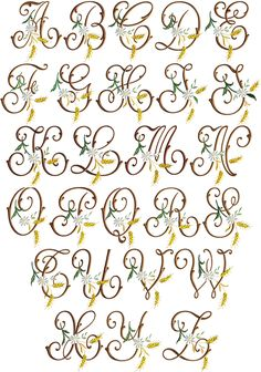Golden Grain font monograms