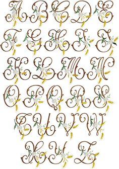 Golden Grain font monograms