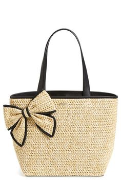 kate spade 'belle place' straw tote | Nordstrom
