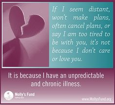 How has having this illness affected your social life and relationships? Please share. www.mollysfund.org