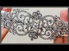 Bella Twilight Inspired Ribbon Headband ~ Bella - This gorgeous ribbon bridal headband features large and dramatic vintage rhinestone detail inspired by Bella from the Twilight movies. This couture designer wedding headpiece is classic and glamorous and is set in antique rhodium silver.  Choose white or ivory ribbon.  This piece is also available as a hair comb.  Perfect for your vintage wedding day look or any romantic bridal look.