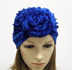 Velvet jersey top knot turban hat for women. The turban is really modern, nice and comfortable head accessory. Turban Hat, Head Accessories, Velvet Tops, Top Knot, Rosettes, Hats For Women, Doughnut, How To Wear, Fashion