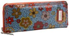 Hadaki Money Pod Large Wallet,Floral Swirl,one size Hadaki. $40.00