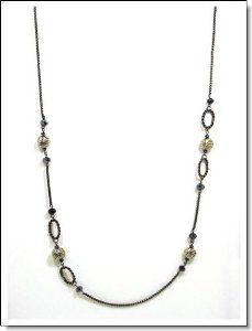 """36"""" Black Beaded Chain Necklace Happy Apple. $28.00. Metal Chain. 36"""" Necklace. Free gift box"""