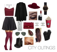 """""""Out in the city"""" by megb1803 on Polyvore featuring Joie, Boutique, MAC Cosmetics, Uncommon, Ray-Ban, MANGO, Chanel, Marc by Marc Jacobs, Wet Seal and Missguided"""
