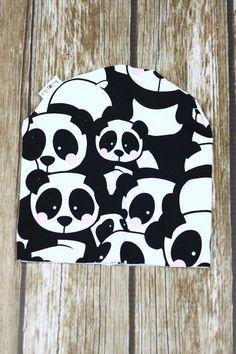 Czapka Panda w Kropka Textile na DaWanda.com