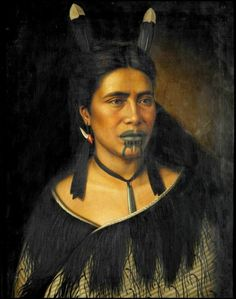 Mrs Mihiterina Takamoana, Napier NZ oil on canvas - Māori Portraits by Gottfried Lindauer Polynesian People, Polynesian Culture, Maori Face Tattoo, Maori Words, Nomad Fashion, Maori People, Beauty Around The World, Old Paintings, Bone Carving