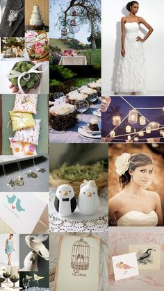 Color Day Themes: Love Birds | The SweetNest  #TheSweetNest #weddinginspiration #birdtheme #lovebirds