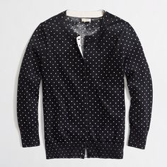 Factory Clare cardigan in dot.. on sale at the J.Crew factory outlet as of 08/02/13
