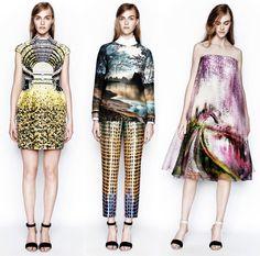2014 fashion trends for women Fashion Now, Mod Fashion, Floral Fashion, Fashion Prints, High Fashion, Fashion Design, 2014 Fashion Trends, 2014 Trends, Shibori