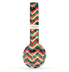 The Abstract Colorful Chevron copy Skin Set for the Beats by Dre Solo 2 Wireless Headphones