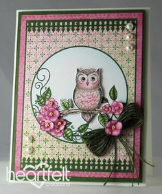 Heartfelt Creations | Perched Pink Owl
