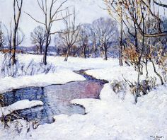 """""""The Creek in Winter"""" by Walter Emerson Baum, 1921"""