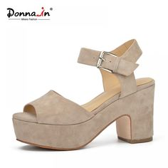 a1ea5cf39f7 Donna-in 2018 New Fashion Summer open toe wedges Women sandals for high  platform genuine leather shoes