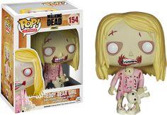Cabezón Teddy Bear Girl 10 cm. Línea POP! Televisión. The Walking Dead. Funko Estupendo cabezón de Teddy Bear Girl de 10 cm, de la línea POP! Televisión, fabricado en material de vinilo y por supuesto 100% oficial y licenciado. Perfecto para regalar a cualquier fan.