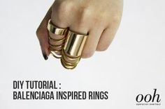 DIY Tutorial: Balenciaga Inspired Rings