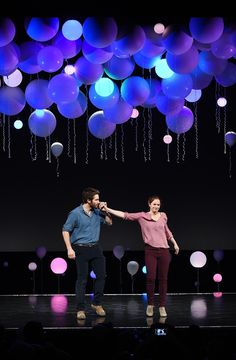 Images like the myriad white balloons in Tom Scutt's design for Constellations have left their mark on audiences. Here, he talks through six shows from his career Stage Set Design, Set Design Theatre, Church Stage Design, Event Design, Kids Church Stage, Constellations, Concert Stage Design, Talent Show, Stage Lighting