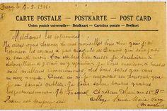 Joseph FOURNOL, chasseur alpin au 11ème bataillon écrit de Ducey, aux infirmiers de son précédent hôpital.