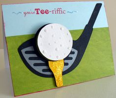 Fun Idea for Father's Day, Golf card Cricut Birthday Cards, Homemade Birthday Cards, Bday Cards, Cricut Cards, Birthday Cards For Men, Homemade Cards, Male Birthday, Dad Birthday Card, Masculine Birthday Cards
