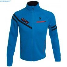 Spyder Men Alps Full Zip Mid Weight Stryke Shell Jacket – Electric Blue Rage