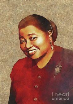 Painting - Hattie Mcdaniel, Hollywood Legend by Esoterica Art Agency , Hattie Mcdaniel, Famous Black, Vintage Hollywood, Classic Hollywood, Black Image, Female Stars, Prints For Sale, Black Art, Black History