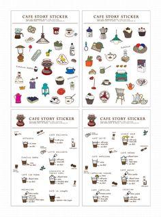 café stickers