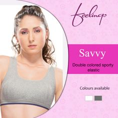 Are you sport savvy? Then this one's for you! Feelings brings to you Savvy Sports Bra - a perfect choice for the sweat-breaking hours.