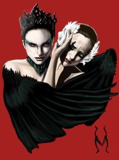 Fan Art of Black Swan for fans of Black Swan 20224532 Black Swan Movie, Black Swan 2010, Natalie Portman, Darren Aronofsky, Sad Art, White Swan, Alternative Movie Posters, Movie Poster Art, Swan Lake
