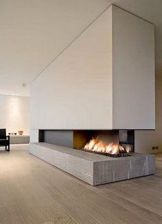 Norse White Design Blog: Modern Fireplaces
