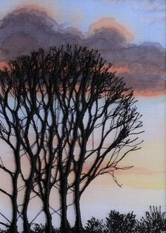 Machine embroidered tree. Alison Holt Course