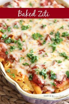 Baked Ziti-A fabulous Pioneer Woman recipe…when you want a little change from Lasagna…