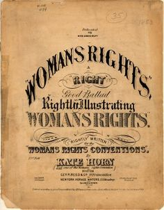 Women's Rights, Vintage Sheet Music Cover (wonder what this sounded like?)