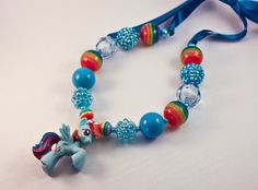 Chunky Gumball Necklace - My Little Pony - Rainbow Dash