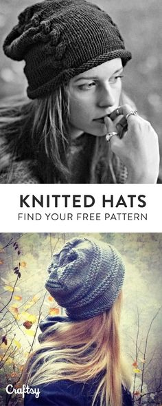 Our favorite knit hat patterns to keep you cozy this Fall. Did we mention they're 100% free?!